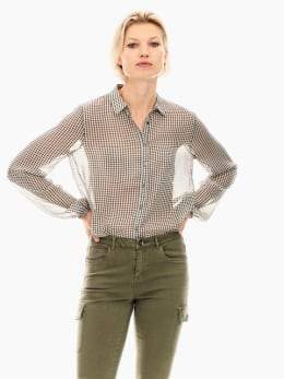 garcia blouse zwart wit t00236