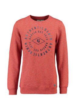 garcia sweater met opdruk i91069 oranje