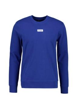wrangler sweater met opdruk donkerblauw