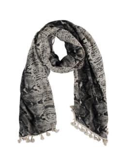 sarlini slangenprint sjaal grijs-beige