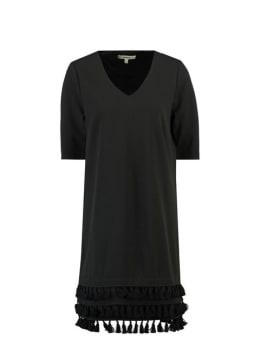 garcia jurk met kwastjes i90081 zwart