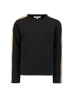 garcia t-shirt met strepen g92406 zwart