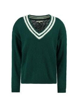 garcia trui met strepen j90240 groen