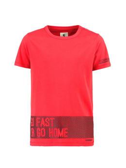 garcia t-shirt met korte mouw h93600 rood