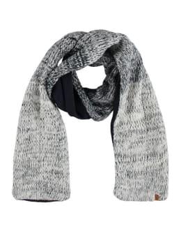 sarlini gebreide sjaal met fleece blauw-wit