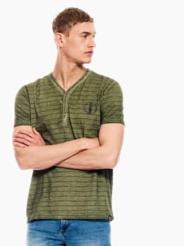 garcia t-shirt gestreept groen p01210