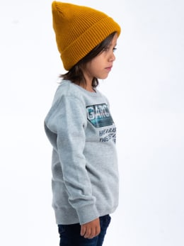 garcia sweater met opdruk I95462 grijs
