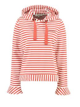 garcia gestreepte hoodie h90262 rood-wit