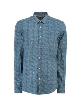 garcia overhemd met allover print I91021 blauw