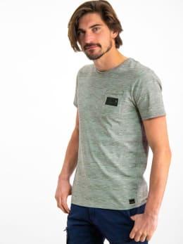 garcia gestreept t-shirt gs910700 grijs