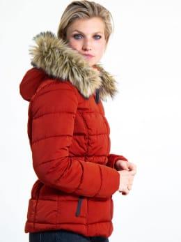 garcia puffer jas met riem gj900908 rood