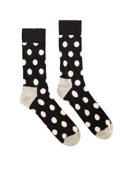 sokken Happy Socks Big Dot Black White Grey men