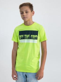garcia t-shirt met opdruk o03400 geel