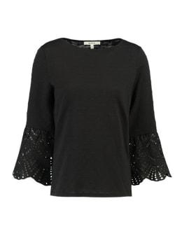 garcia shirt driekwart mouwen G90014 zwart
