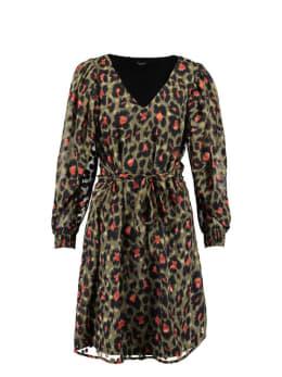 sisterspoint jurk met allover print groen