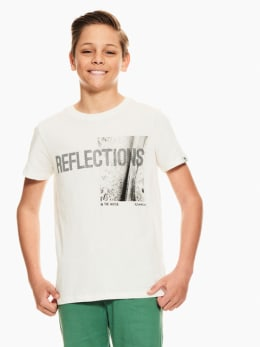 garcia t-shirt met print wit q03401