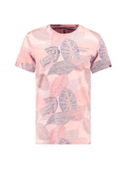 garcia t-shirt met allover print e91007 roze