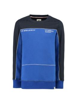 garcia sweater g93465 tweekleurig blauw
