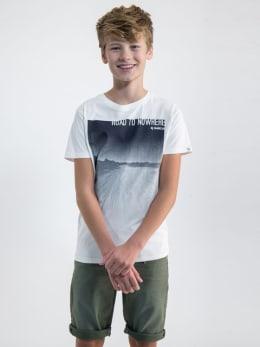garcia t-shirt met opdruk o03400 wit