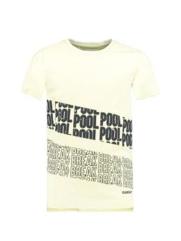 Garcia T-Shirt Met Tekstprint D93603 Limegroen