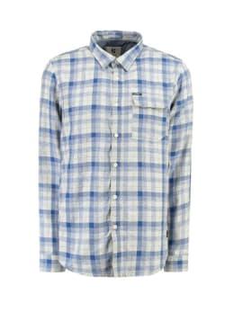 garcia overhemd met ruitprint g91028 blauw