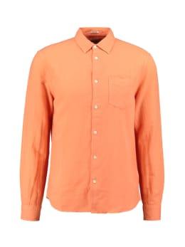 wrangler overhemd oranje ls 1 pkt shirt
