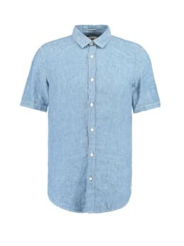 garcia overhemd korte mouwen e91031 blauw