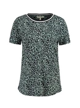 garcia t-shirt met allover print ge900702 groen