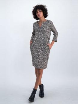 garcia jurk met allover print ge901201 zwart