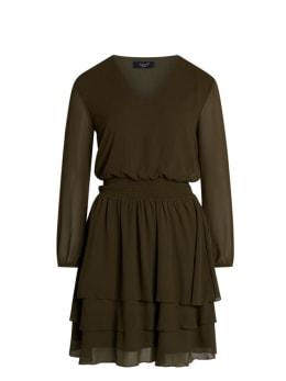 sisterspoint jurk met v-hals nicoline groen