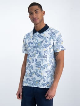 garcia polo met allover print o01020 wit