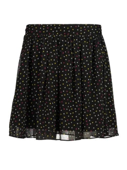 yezz flared mini rok met allover print py900808 zwart