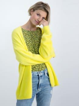 garcia fluffy vest m00050 geel
