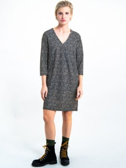 garcia jurk met allover print i90080 zwart
