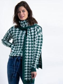 garcia sjaal met print j90331 groen