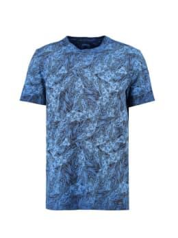 garcia t-shirt met allover print g91008 blauw