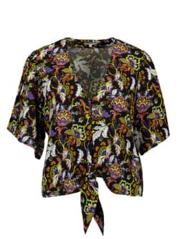 yezz blouse met print zwart py000604