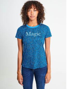 garcia t-shirt met allover print pg900910 blauw