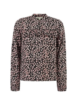 garcia blouse met allover print h92633 zwart