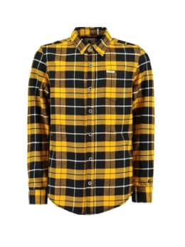 garcia overhemd i93430 geruit geel