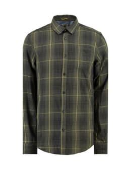 garcia geruit overhemd h91229 groen