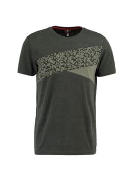 chief t-shirt met print pc910705 groen