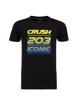 iconic crush denim t-shirt toronto zwart