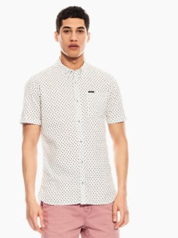 garcia overhemd met allover print wit q01031