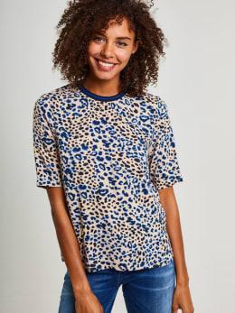 yezz blouse met allover print py800961 beige