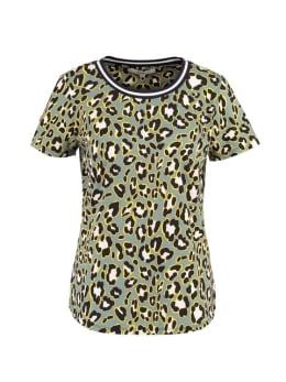 garcia t-shirt met print ge900701 mintgroen