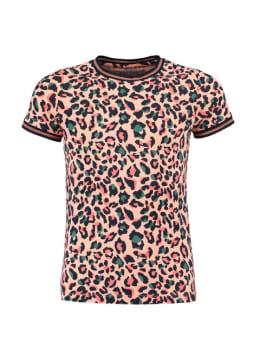 cars t-shirt met panterprint marbilla roze