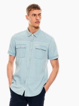 garcia overhemd lichtblauw denim p01239