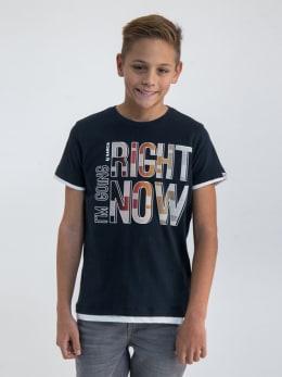 garcia t-shirt met opdruk n03604 zwart