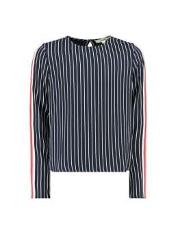 garcia blouse i92434 gestreept wit blauw